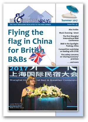 B&B News, the only magazine for B&B and guest house owners