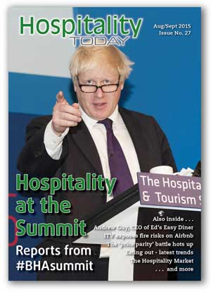 Hospitality Today magazine, for owners of hospitality businesses